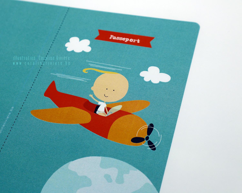 faire part naissance passeport voyage Lucas