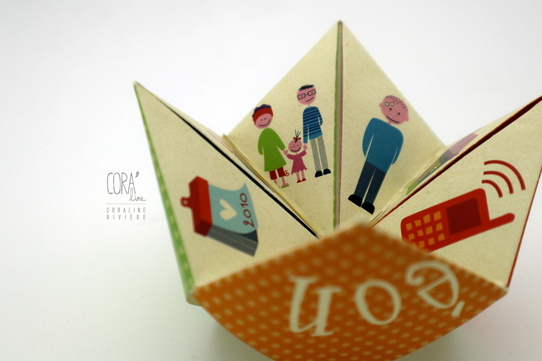 faire part naissance simeon cocotte pliage origami couleurs creation original1