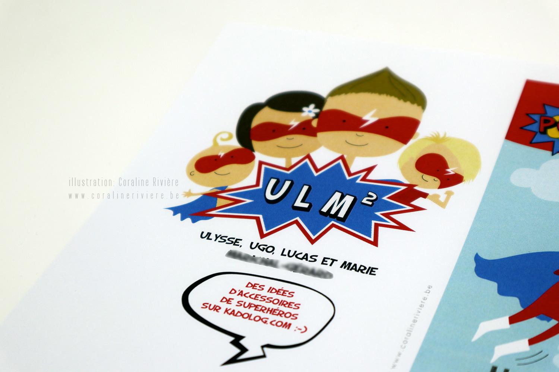 faire part naissance super heros ulysse bande dessinee dessins coraline riviere1