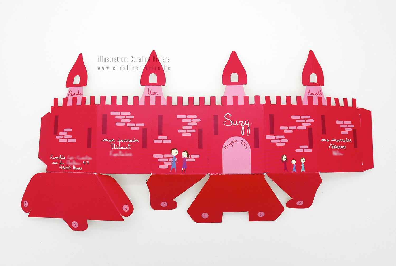 faire part naissance suzy chateau rose