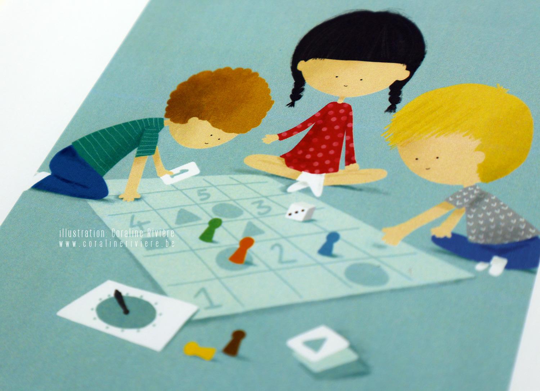 illustration coraline riviere jeu emotions jouer ensemble jeu de societe