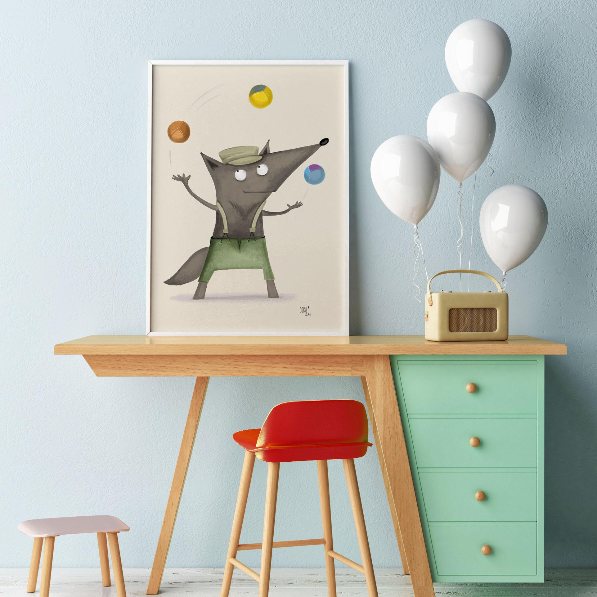 illustration coraline riviere loup jongleur de rue
