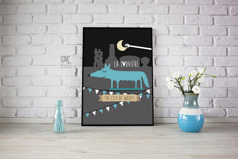 illustration la louviere louve decrocher lune cite des loups