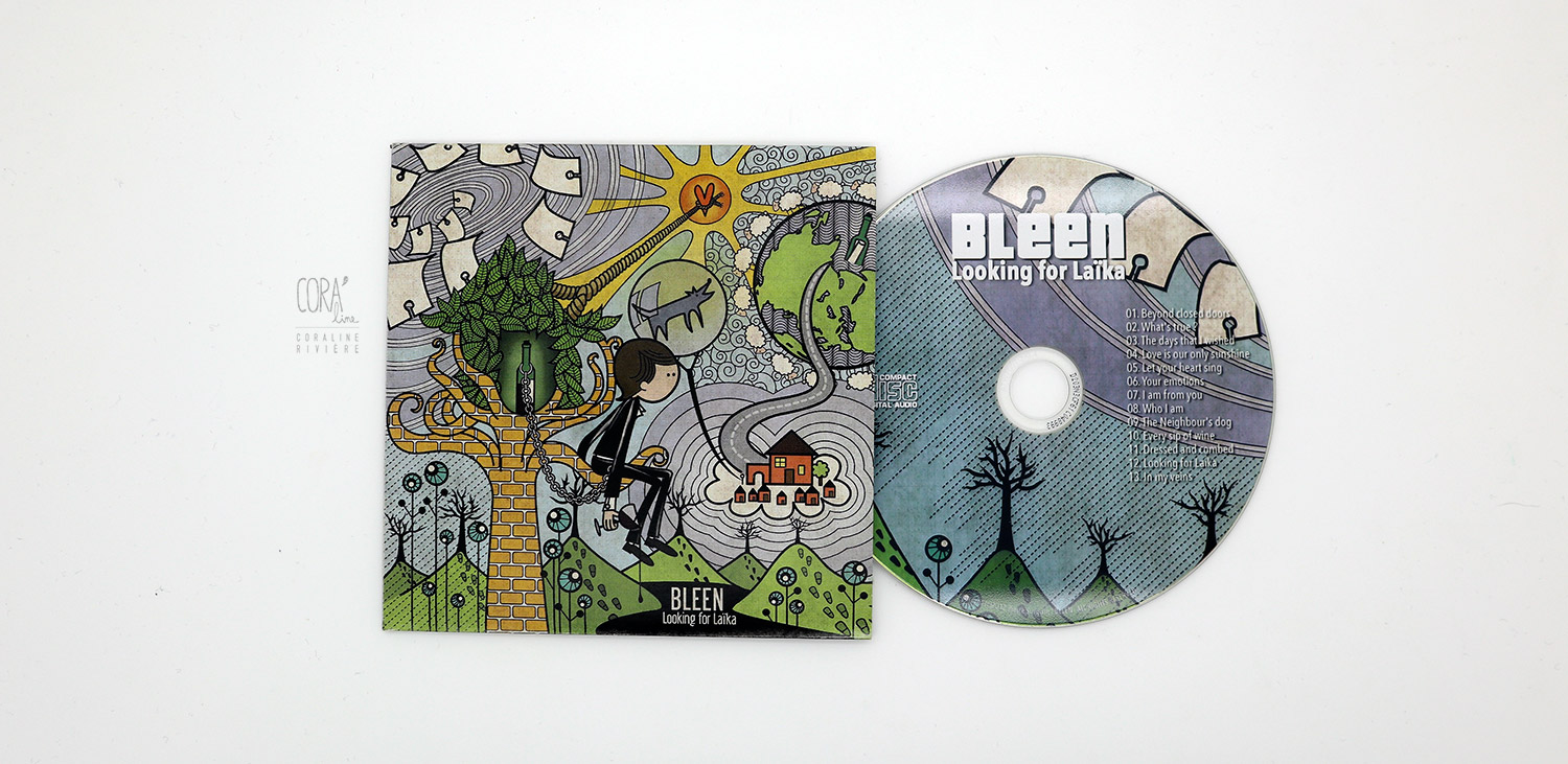 illustration pochette cd musique album bleen looking for laika