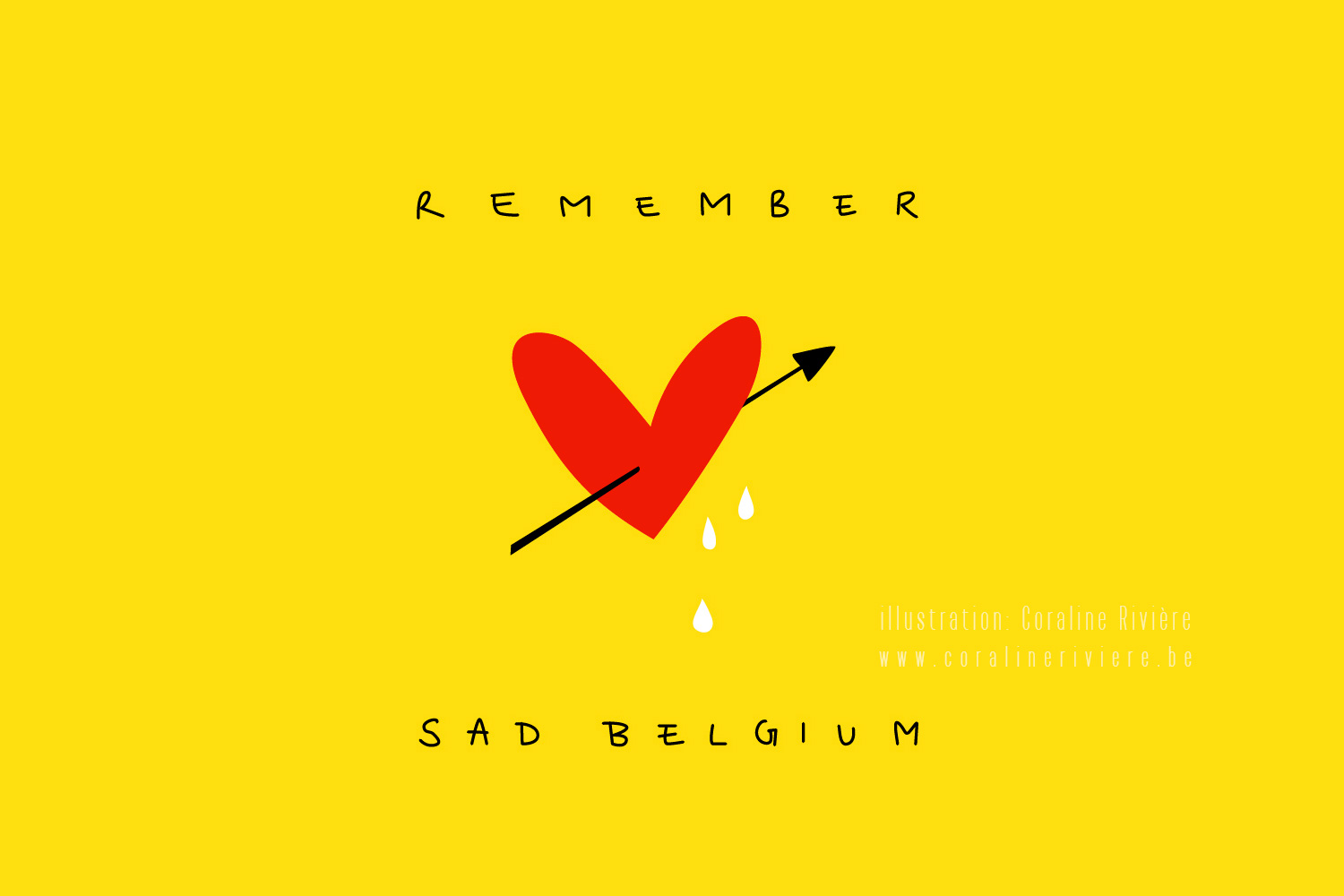 illustration souvenir remember sad belgium belgique triste 22 mars attentats
