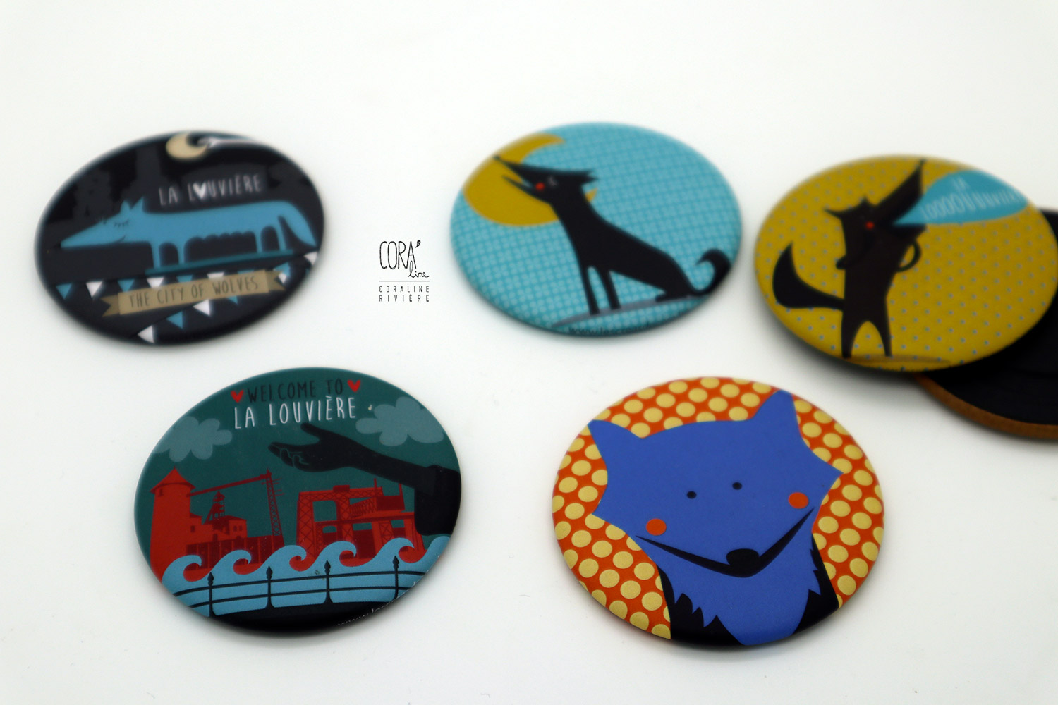 illustrations badges magnets la louviere folklore la louviere