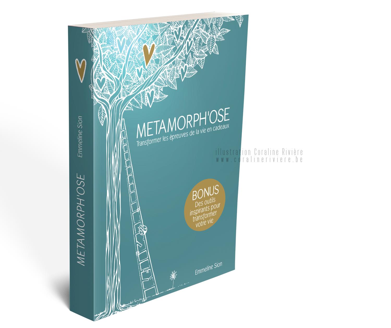 livre metamorph ose illustration couverture livre developpement personnel