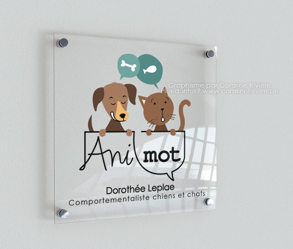 logo comportementaliste chiens chats creation logo1