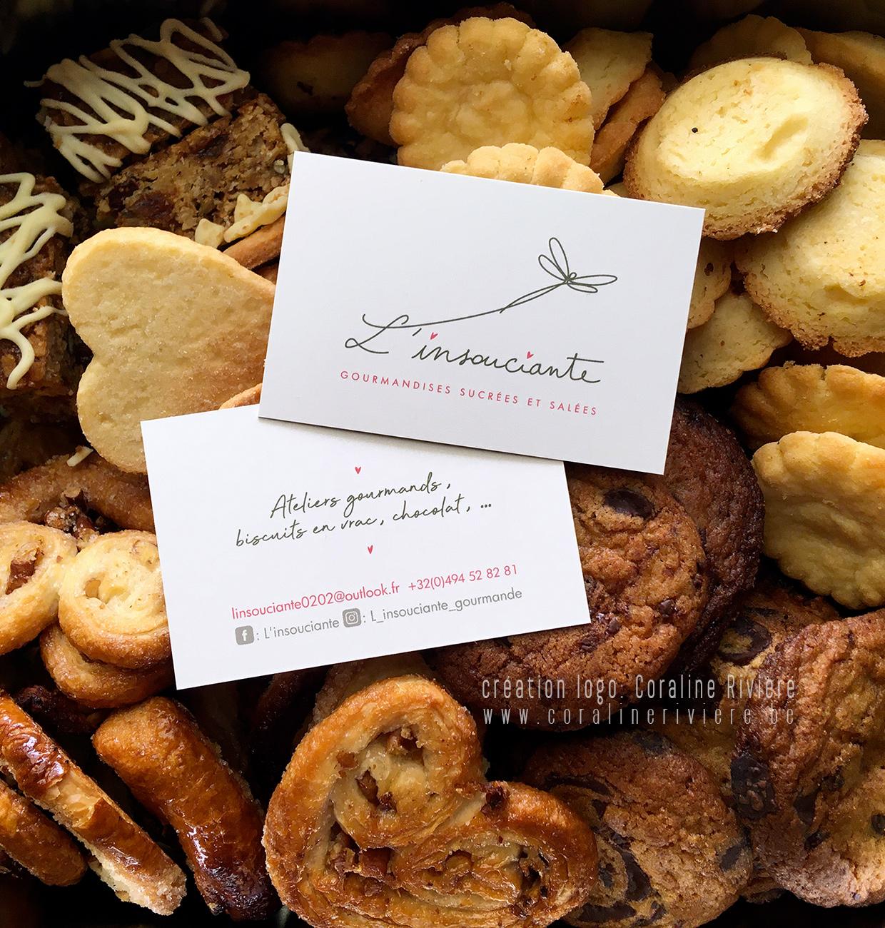logo marque belge biscuits maison l insouciante