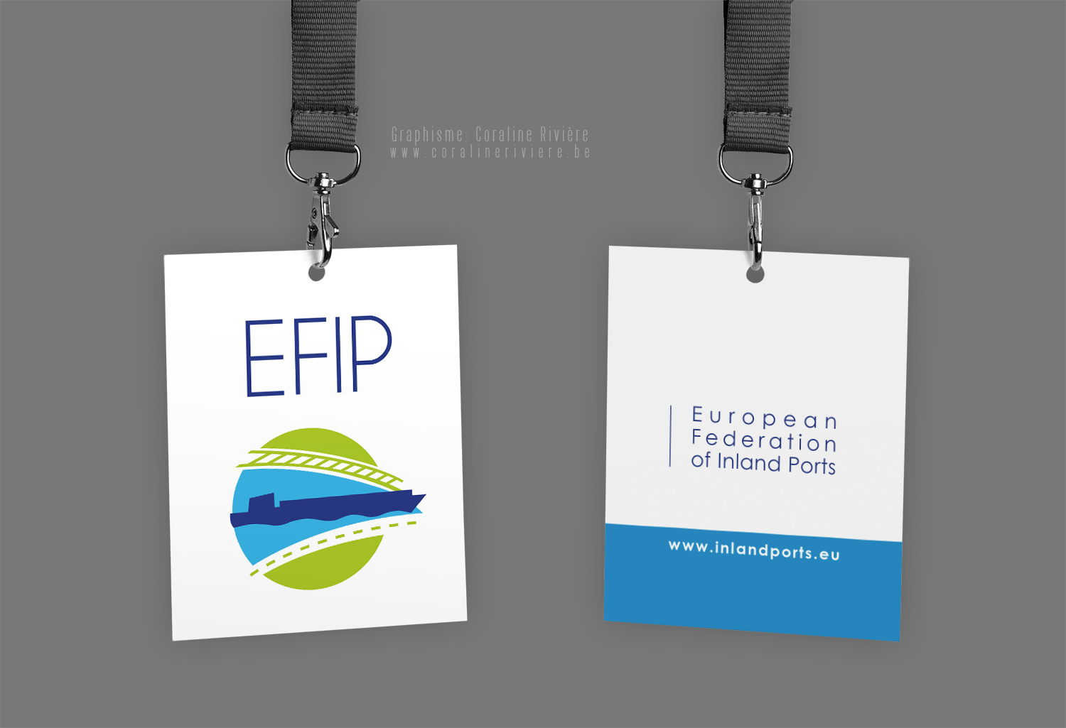 logo transport fluvial route rail efip european federation inland ports