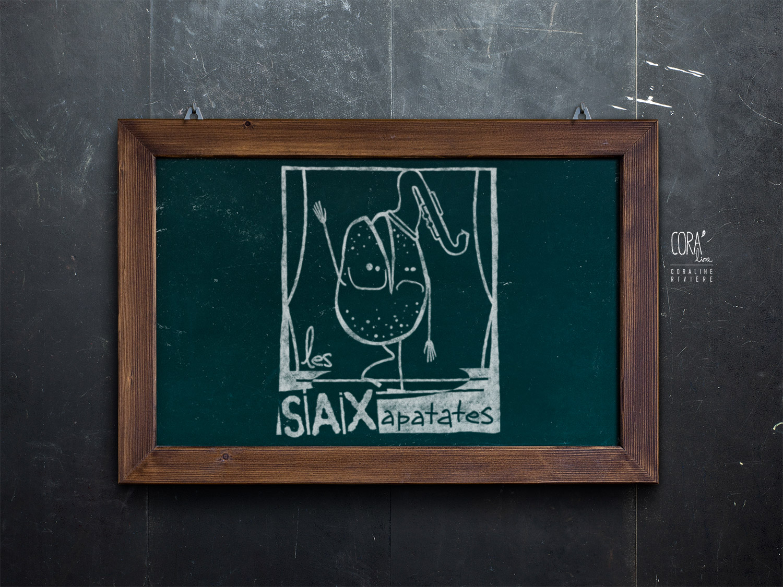 logo troupe theatre impro saxapatates