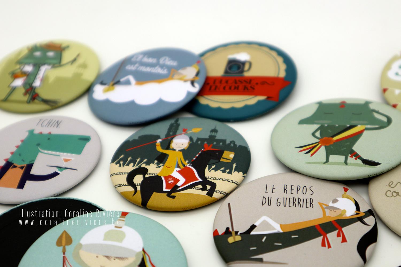 magnets aimants frigo theme ducasse mons souvenir ville doudou combat lumecon dragon saint georges