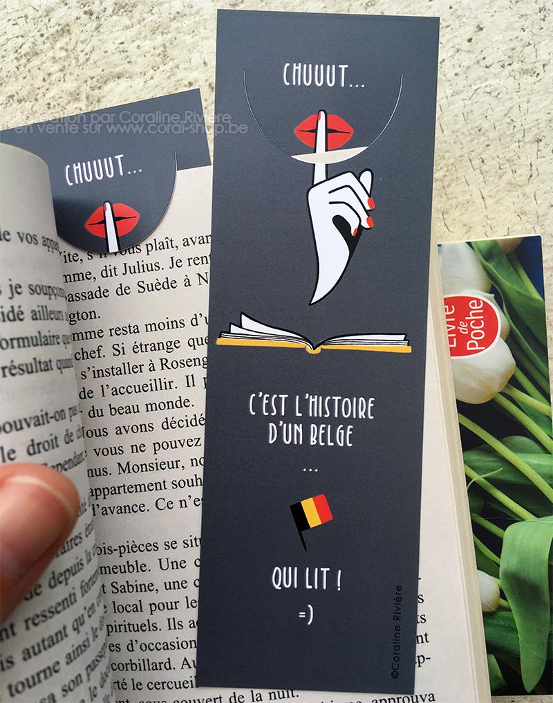 marque page signet humour belgique c est l jistoire d un belge