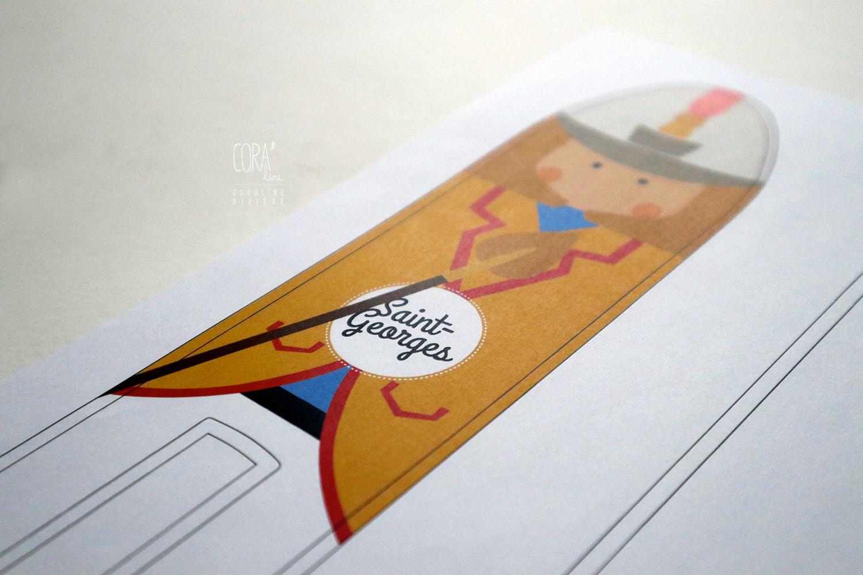 planche dessin pour impression textile saint georges doudou mons lumecon