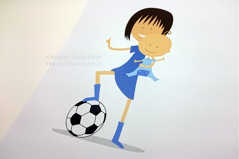remerciement naissance bastien theme football grande soeur petit frere