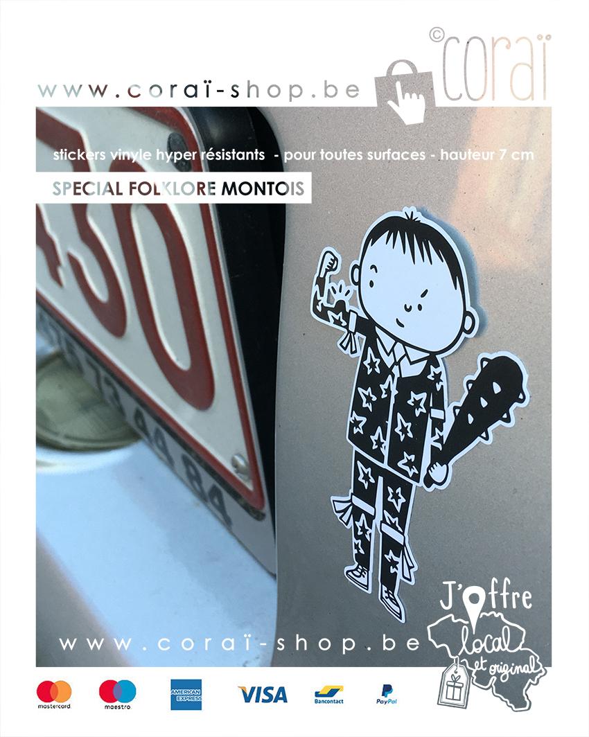 stickers homme de feuilles sticker vinyle autocollant voiture folklore mons personnages combat