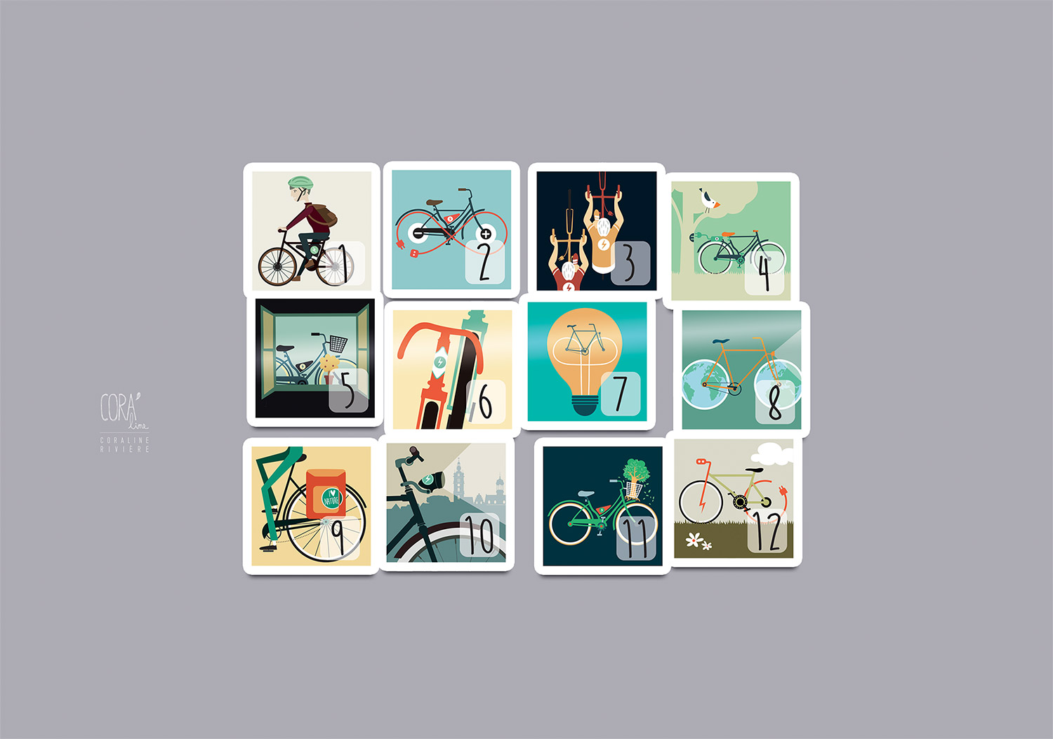 stickers ucl mons illustration graphisme theme velo electrique decoration casier velo1