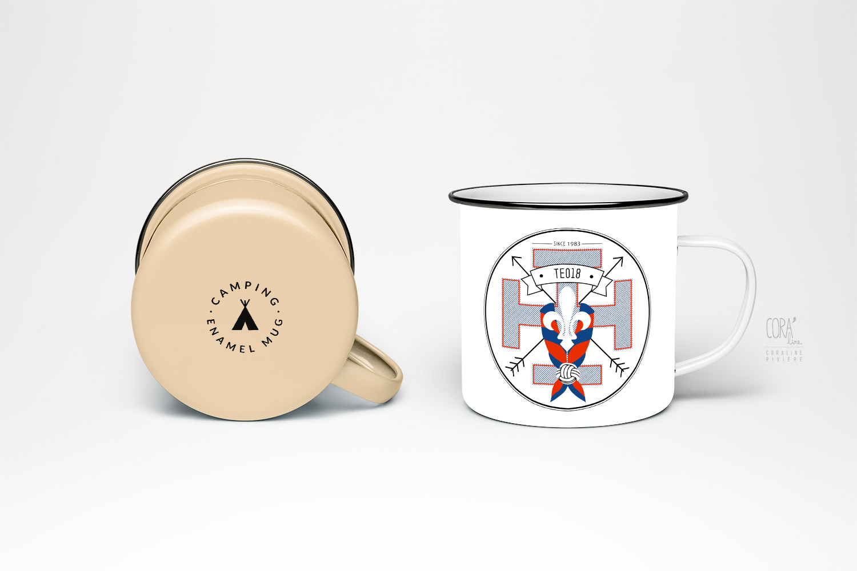 tasse mug camping logo scout