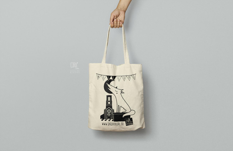 tote bag sac toile ville la louviere graphisme coraline riviere1