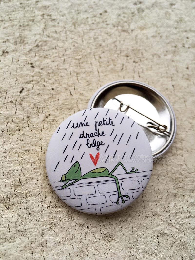une petite drache belge humour belge meteo belgique badge original