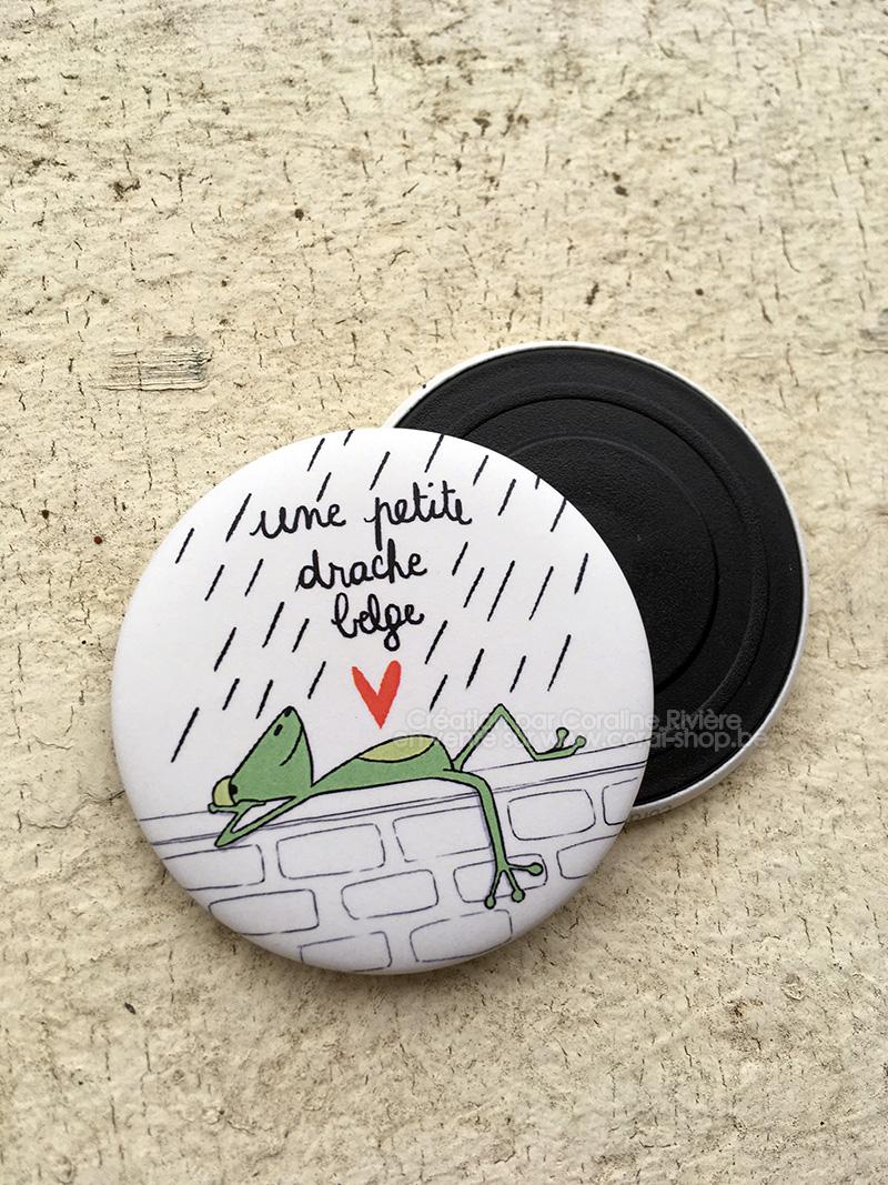 une petite drache belge magnet aimant frigo humour belge