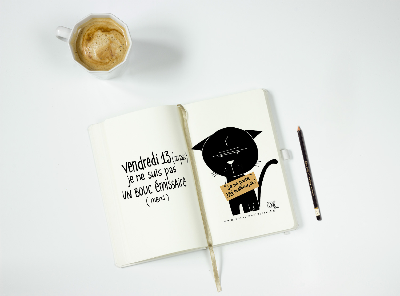 vendredi 13 chat noir bouc emissaire dessin coraline riviere